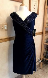 Ralph Lauren Navy Sequin Dress